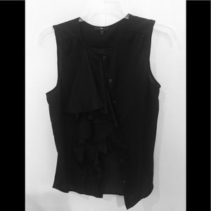 Gap ruffle dress tank black size M
